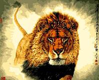 "Картина раскраска по номерам на холсте ""Царь зверей"", 40х50см, MG311, фото 1"