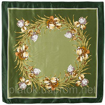 Аметист 872-10, павлопосадский платок (атлас) шелковый с подрубкой   Стандартный сорт