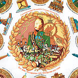 Герои войны 1812 года 1491-1, павлопосадский платок (атлас) шелковый с подрубкой, фото 2