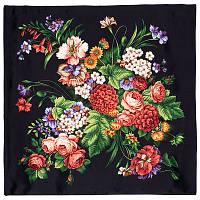 Итальянский полдень 1281-18, павлопосадский платок (атлас) шелковый с подрубкой, фото 1
