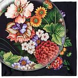 Итальянский полдень 1281-18, павлопосадский платок (атлас) шелковый с подрубкой, фото 6