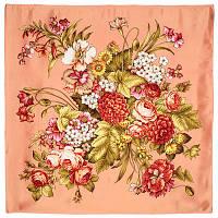Итальянский полдень 1281-3, павлопосадский платок (атлас) шелковый с подрубкой