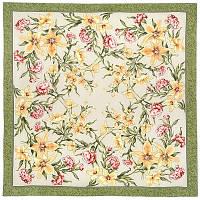 Аромат весны 899-10, павлопосадский платок (крепдешин) шелковый с подрубкой, фото 1