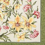 Аромат весны 899-10, павлопосадский платок (крепдешин) шелковый с подрубкой, фото 3