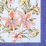 Аромат весны 899-13, павлопосадский платок (крепдешин) шелковый с подрубкой, фото 3