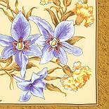 Аромат весны 899-16, павлопосадский платок (крепдешин) шелковый с подрубкой, фото 2