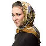 Аромат весны 899-16, павлопосадский платок (крепдешин) шелковый с подрубкой, фото 3