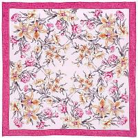 Аромат весны 899-2, павлопосадский платок (крепдешин) шелковый с подрубкой, фото 1