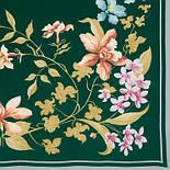 Гардения 868-9, павлопосадский платок (крепдешин) шелковый с подрубкой, фото 2