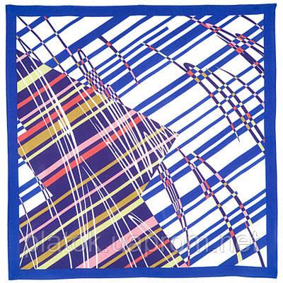 Движение 1365-13, павлопосадский платок (крепдешин) шелковый с подрубкой