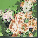 Коварство и любовь 1495-10, павлопосадский платок (крепдешин) шелковый с подрубкой, фото 2