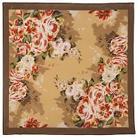 Коварство и любовь 1495-16, павлопосадский платок (крепдешин) шелковый с подрубкой