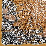 Африканские приключения 1482-3, павлопосадский шейный платок (крепдешин) шелковый с подрубкой, фото 2