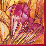 Болеро 10004-5, павлопосадский шейный платок (крепдешин) шелковый с подрубкой, фото 2