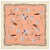 Звонкое утро 10040-2, павлопосадский шейный платок (крепдешин) шелковый с подрубкой   УЦЕНКА!!!