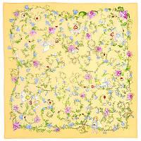 Купидоны 1255-2, павлопосадский шейный платок (крепдешин) шелковый с подрубкой   Стандартный сорт    СКИДКА!!!