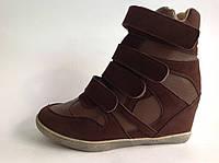 Кроссовки на платформе (Сникерсы) Y3510 Brown 36-40р