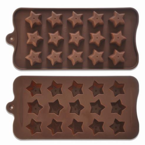Форма силиконовая для конфет Звездочки 15 шт