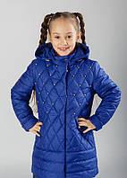 Весенняя куртка для девочки на рост 116-134 см