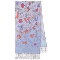 Волшебная аллея 1051-51, павлопосадский шарф шелковый крепдешиновый с шелковой бахромой
