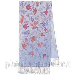 Чарівна алея 1051-51, павлопосадский шовковий шарф крепдешиновый з шовковою бахромою