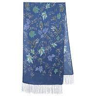 Волшебная аллея 1051-64, павлопосадский шарф шелковый крепдешиновый с шелковой бахромой