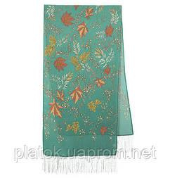Чарівна алея 1051-61, павлопосадский шовковий шарф крепдешиновый з шовковою бахромою