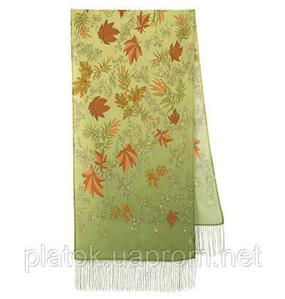 Волшебная аллея 1051-60, павлопосадский шарф шелковый крепдешиновый с шелковой бахромой