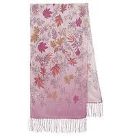 Волшебная аллея 1051-54, павлопосадский шарф шелковый крепдешиновый с шелковой бахромой