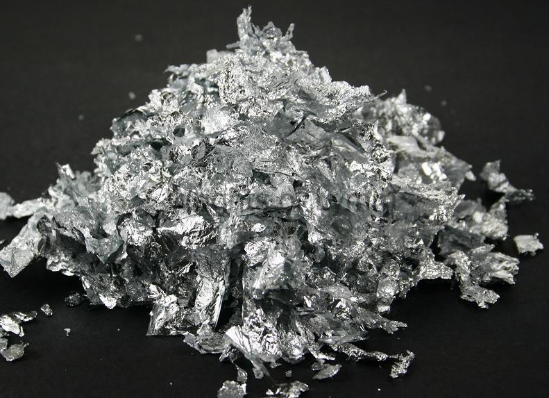 Поталь в хлопьях,малый пакет,серебро
