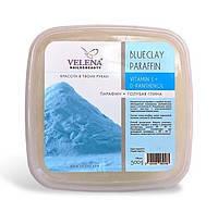 Парафин с Голубой глиной, маслом Персиковой косточки и витамином Е, Д-пантенолом VELENA 450 г