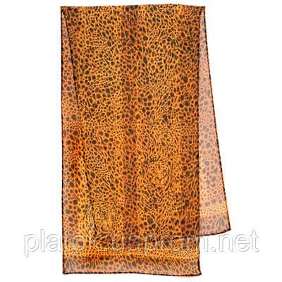 Кошачий глаз 1217-16, павлопосадский шарф (креп-жоржет) шелковый с подрубкой
