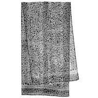 Кошачий глаз 1217-2, павлопосадский шарф (креп-жоржет) шелковый с подрубкой