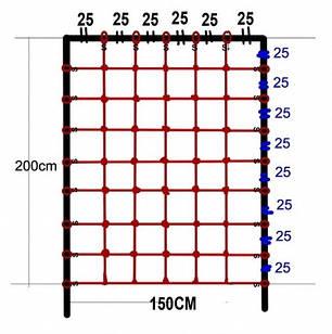 Гладиаторская сетка для лазанья 200 x 150 cм S-Hook для детских игровых комплексов, фото 2