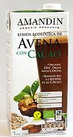 ВЕГА молоко овсяное с какао BIO 1 л Amandin
