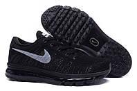 Кроссовки мужские Nike Flyknit Air Max Black (Найк аир макс, найк флайнит) черные , фото 1