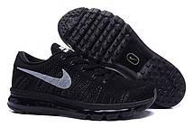 Кроссовки мужские Nike Flyknit Air Max Black (Найк аир макс, найк флайнит) черные