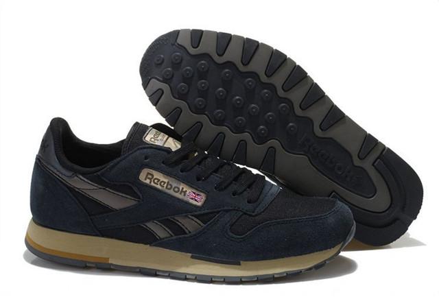 Мужские кроссовки Reebok Classic Suede Black Оригинал