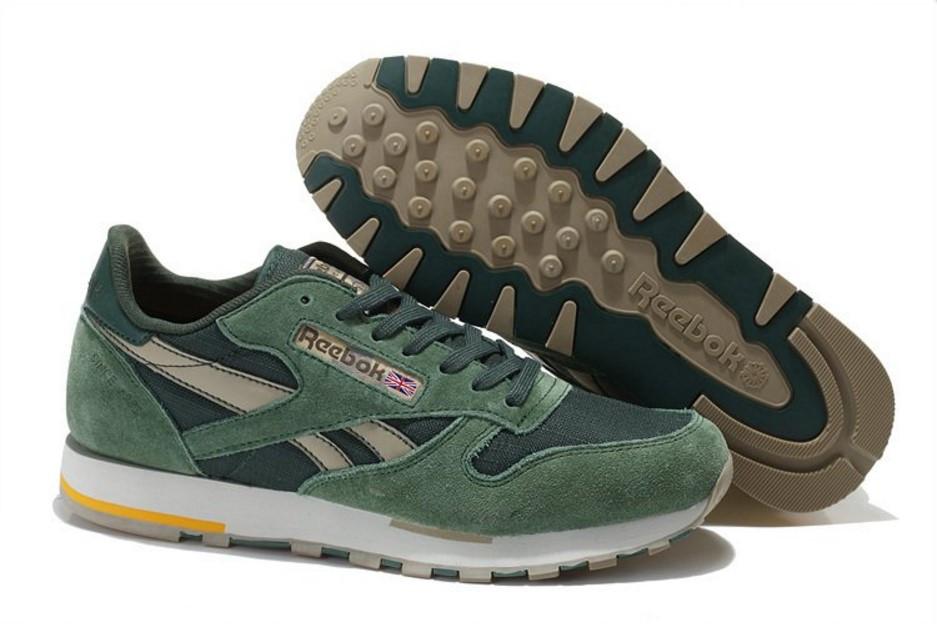 Мужские кроссовки Reebok Classic Suede Green