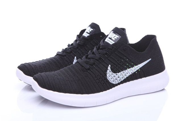 Кроссовки Nike Free Run Flyknit Black White Оригинал