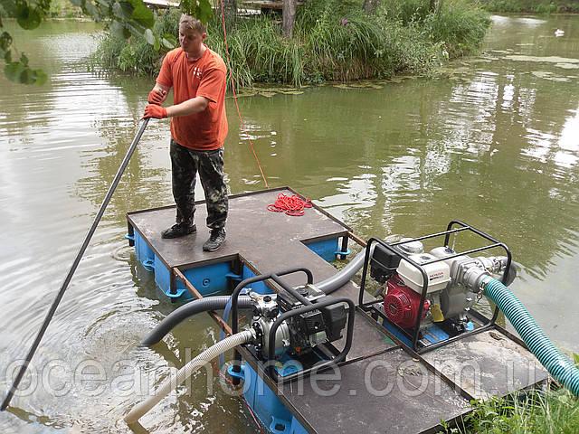 Очистка озер, рек, каналов, водоемов.
