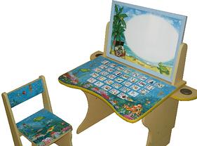 Парта Baby Elit со стулом и двухсторонним мольбертом Остров сокровищ, фото 3