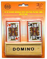 Домино и две колоды игральных карт