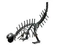 "Статуэтка из металла ""Динозавр"" в стиле техно-арт"