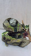 Фонтан комнатный «Лягушки у ручья» Габариты: 27х22х14 см