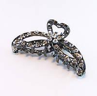 Заколка для волос крабик бижутерный металл-9,5 см., фото 1