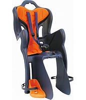 Сиденье заднее BELLELLI B1 clamp детское до 22кг (оранжевый с черным) крепится на багажник