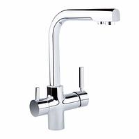 Q-tap SPRING EURO Смеситель для кухни с подключением к фильтру, креплением (шпилька) и поворотным изливом