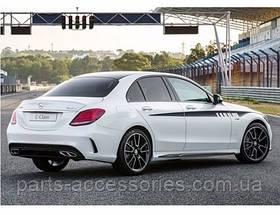 AMG дифузор заднього бампера Mercedes C-Class W205 2014+ новий оригінал