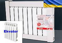 Алюминиевый радиатор батарея для отопления Экватор 500/85